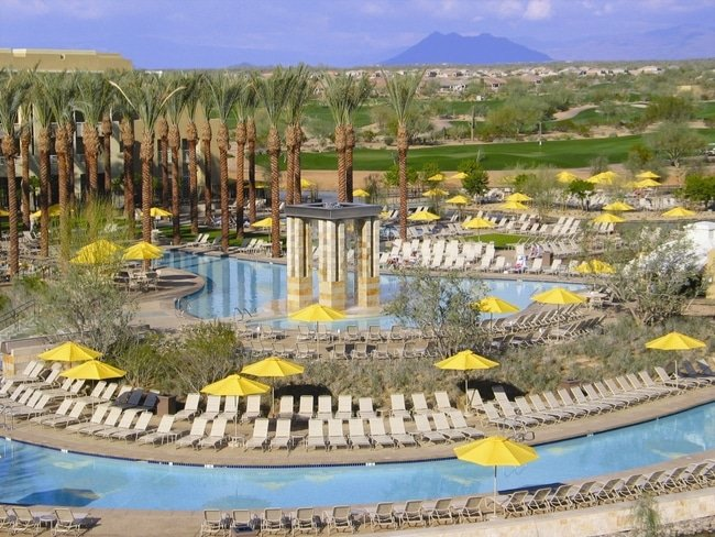 Pools and Lazy River JW Marriott Desert Ridge