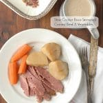 Slow Cooker Beer-Simmered Corned Beef and Vegetables