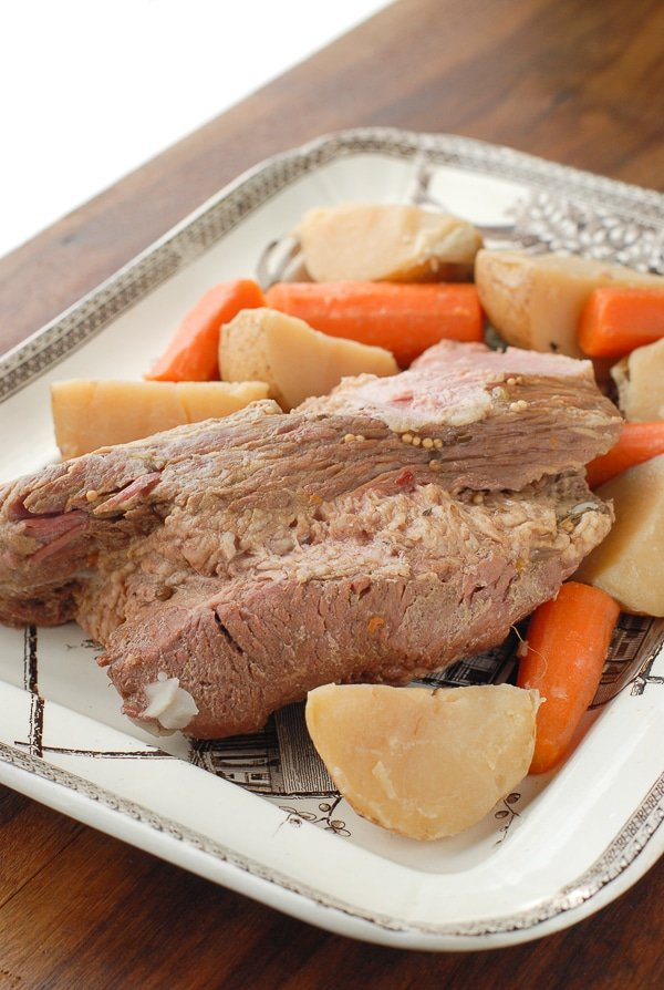 Slow Cooker Beer-Simmered Corned Beef - BoulderLocavore.com