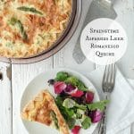 Springtime Asparagus Leek Romenesco Quiche