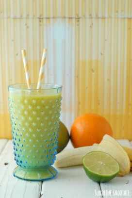 Sunshine Smoothie with straws