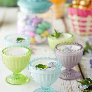 Egg Cup Coconut Panna Cotta in egg cups