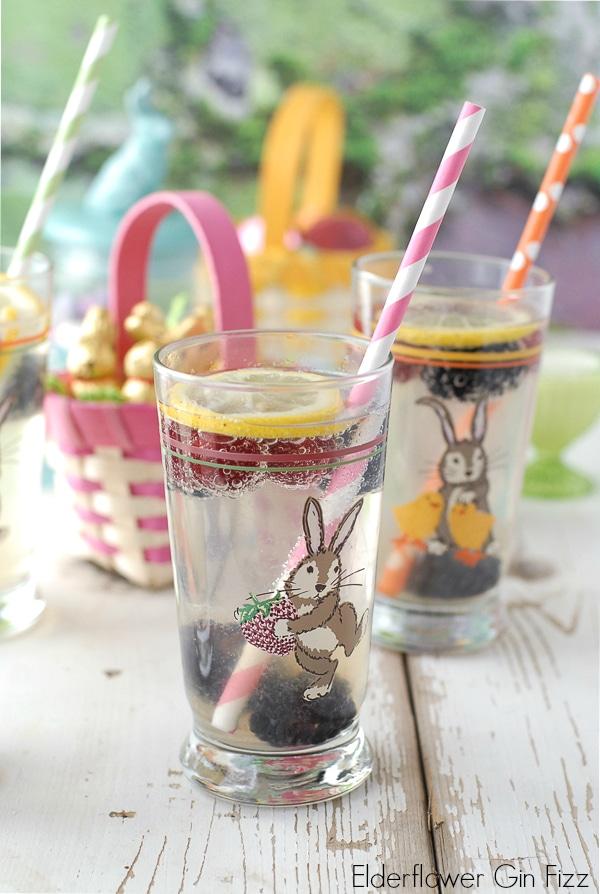 Elderflower Gin Fizz  BoulderLocavore.com #Easter
