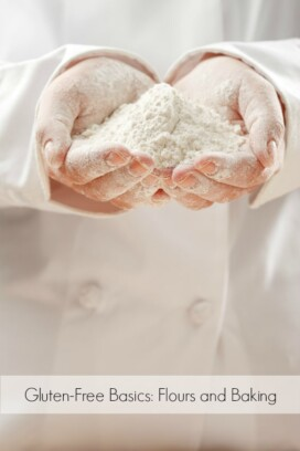 hands holding flour