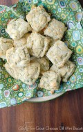 Gluten-Free Goat Cheese Dill Mini Biscuits