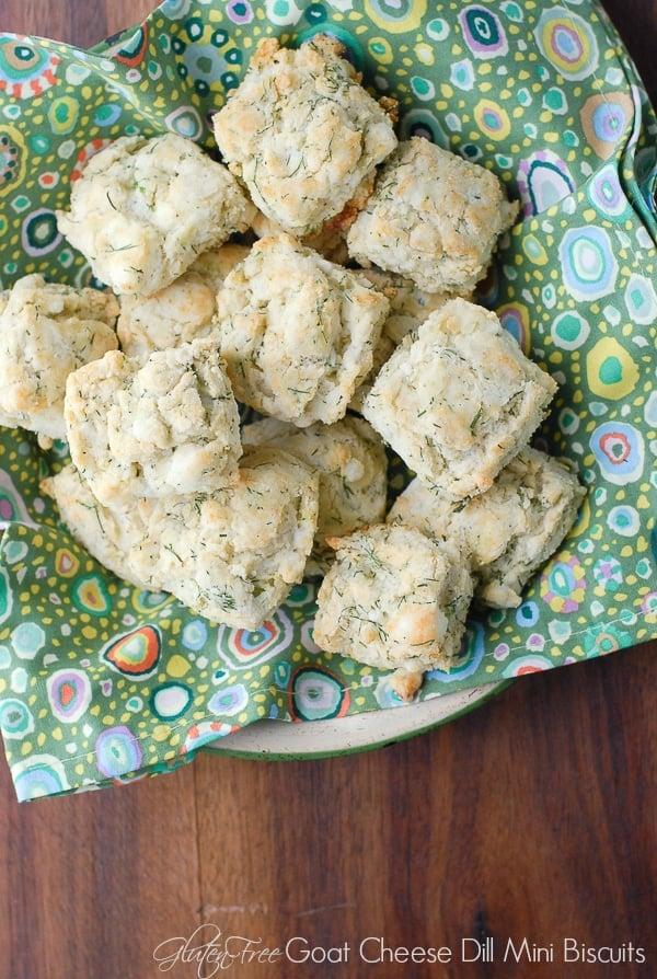 Goat Cheese Dill Mini Biscuits gluten-free - BoulderLocavore.com