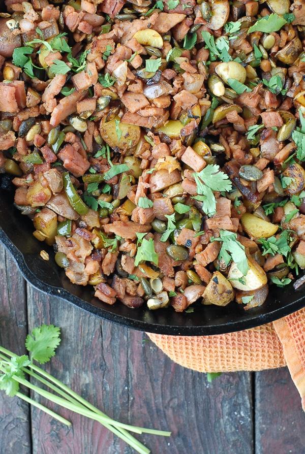 One skillet gluten-free Jalapeno Ham Hash - BoulderLocavore.com