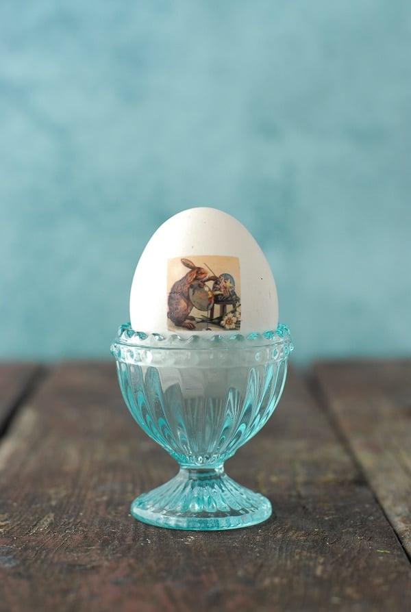Painting Bunny Vintage Tatooed Easter Eggs - BoulderLocavore.com