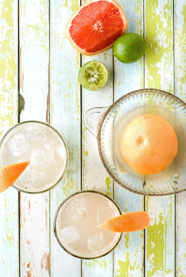 Paloma cocktail plus ingredients