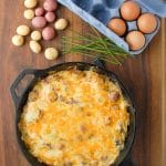 Smoky Ham Cheese Potato Frittata