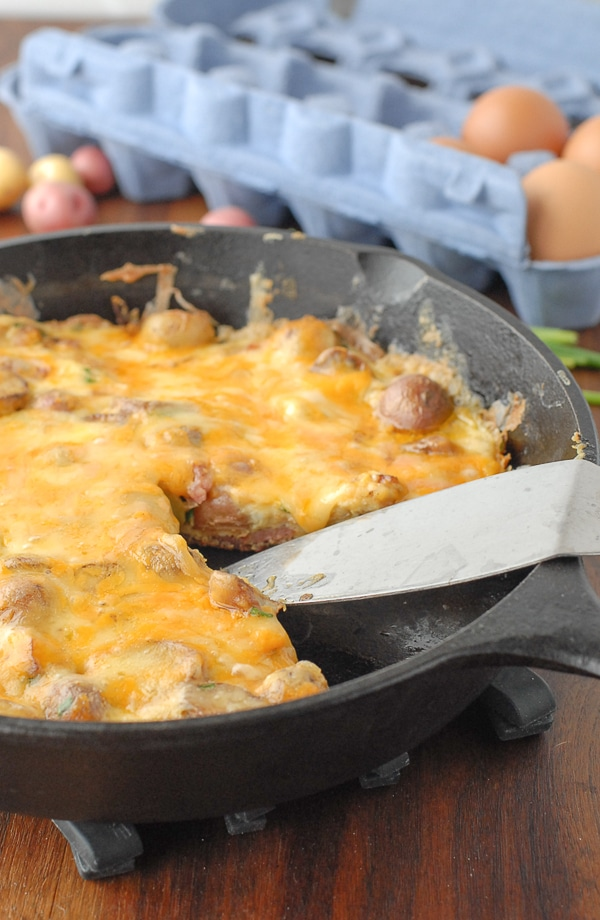 Smoky Ham Cheese Potato Frittata - BoulderLocavore.com