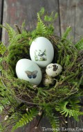 Tattooed Easter Eggs in Nest {tutorial} - BoulderLocavore.com