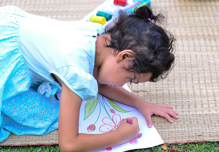 Young Student Drawing a Garden | BoulderLocavore.com