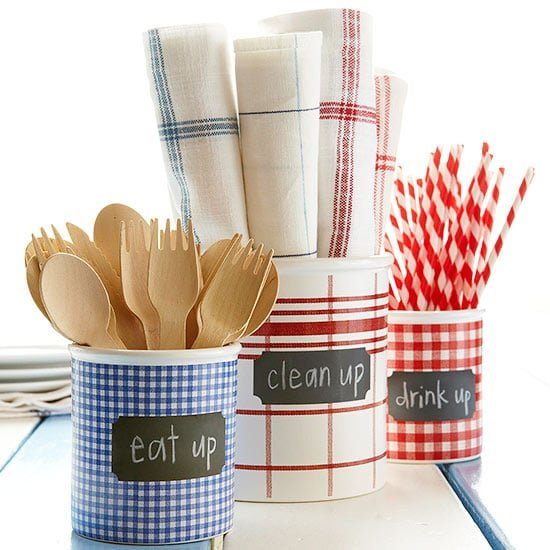 DIY Patriotic Utensil Caddys - BHG