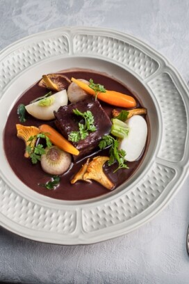 Beef Bourguinon á la Hassan from The HUNDRED-FOOT JOURNEY