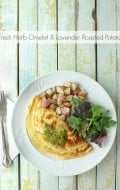 Fresh Herb Omelet and Lavender Roasted Potatoes - BoulderLocavore.com
