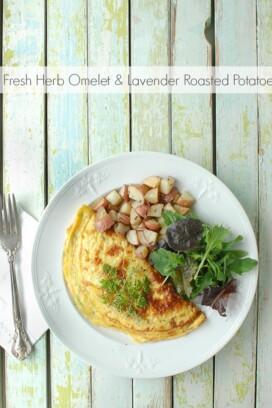 Fresh Herb Omelet and Lavender Roasted Potatoes - BoulderLocavore.com