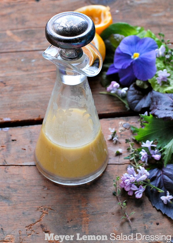 Meyer Lemon Salad Dressing