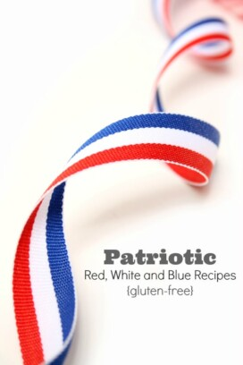 Patriotic Red, White and Blue Recipes gluten-free Title image