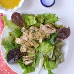 Fresh, fast and flavorful:  Tarragon Pesto Chicken Breast with dressed greens