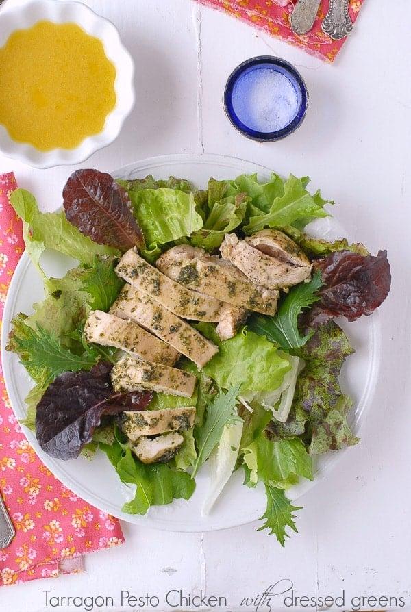 Tarragon Pesto Chicken - BoulderLocavore.com