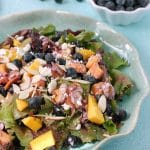 Blueberry-Mango Mixed Greens Salad with Blueberry-Guava Vinaigrette