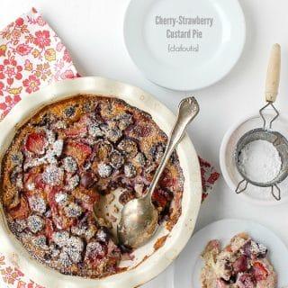 Cherry-Strawberry Custard Pie {Clafoutis} - BoulderLocavore.com