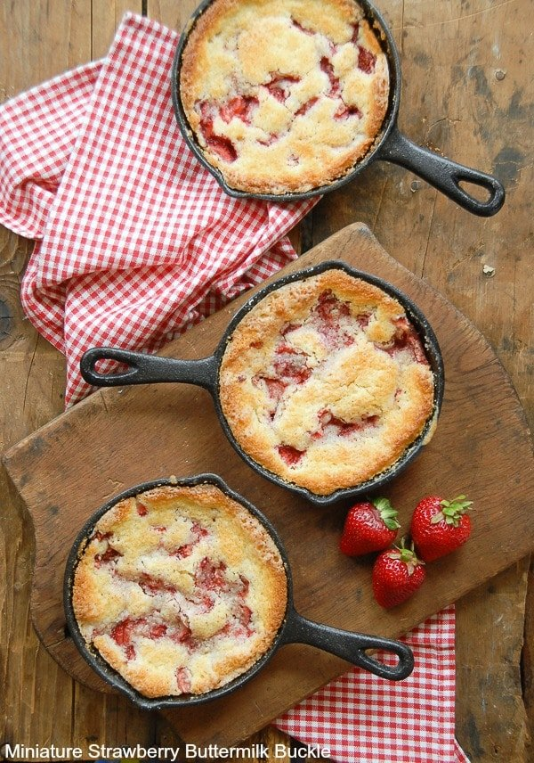 Miniature Strawberry Buttermilk Buckle - BoulderLocavore