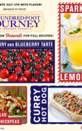 Sparkling Lemonade, Raspberry Blueberry Tarte and The Hundred-Foot Journey movie