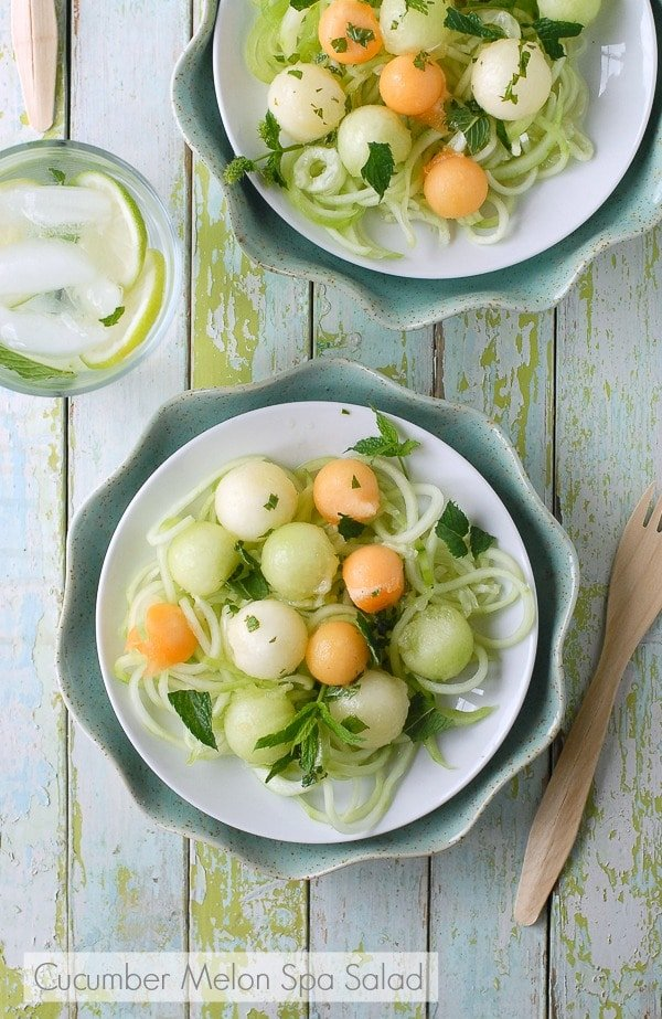 Cucumber Melon Spa Salad