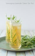 Lemongrass-Lavender Green Sun Tea with mint - BoulderLocavore.com