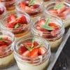 Mini Mascarpone Cheesecakes with Strawberry Balsamic topping guten-free - BoulderLocavore.com