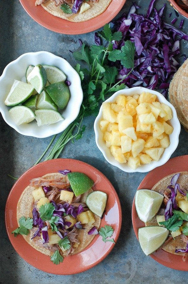 Slow Cooker Spicy Pork Pineapple Tacos 3 - BoulderLocavore.com