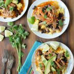 Spicy Shredded Pork Breakfast Tostadas - BoulderLocavore.com