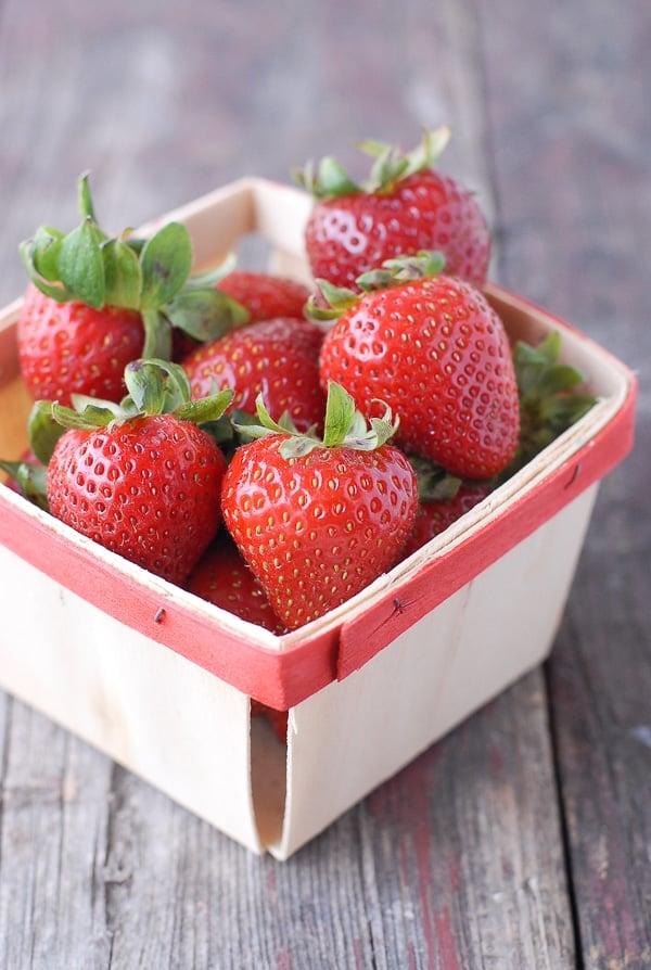 Strawberries in a basket - BoulderLocavore.com