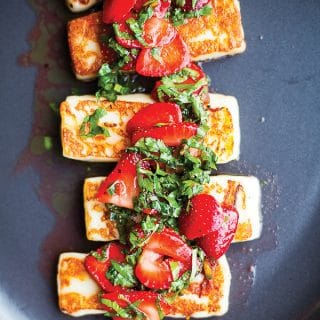Vibrant Food | Grilled Halloumi with Strawberries and Herbs