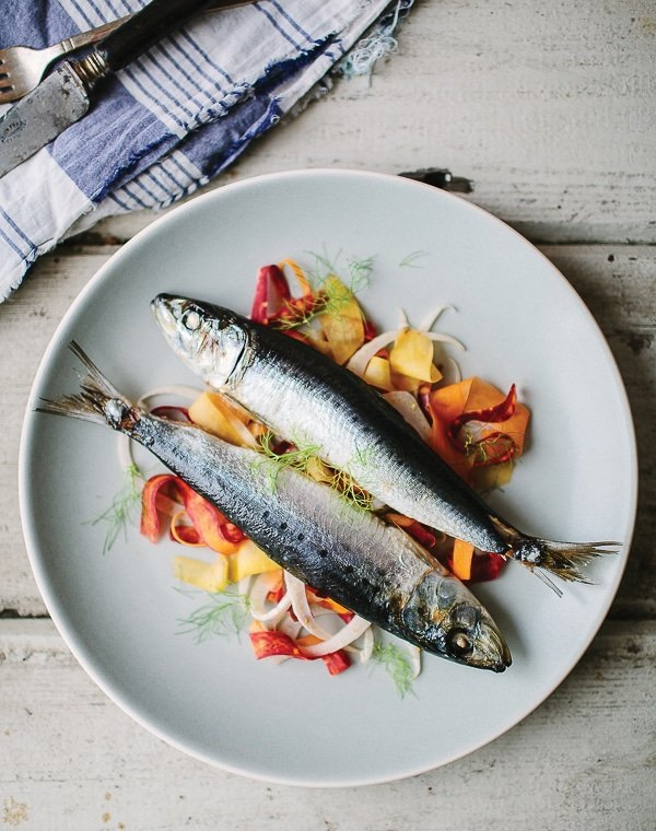 ibrant Food | Roasted Sardines with Carrot Fennel Slaw