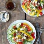 Zucchini Ribbon Mediterranean Salad