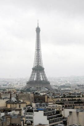 Eiffel Tower from top of Arc de Triomphe