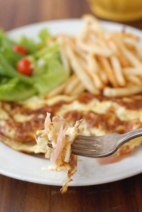 French Ham and Cheese Omelet - BoulderLocavore.com
