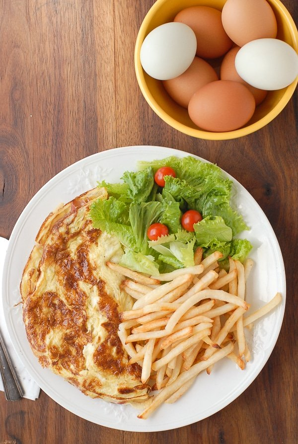 French Ham and Cheese Omelet with Frites - BoulderLocavore.com