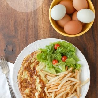 French Ham and Cheese Omelet with farm eggs - BoulderLocavore