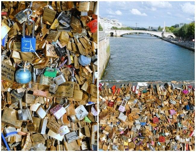 Love Locks Paris bridges Seine River - BoulderLocavore.com