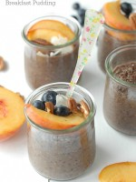 Overnight Quinoa Chia Chocolate Breakfast Pudding with fruit - BoulderLocavore.com