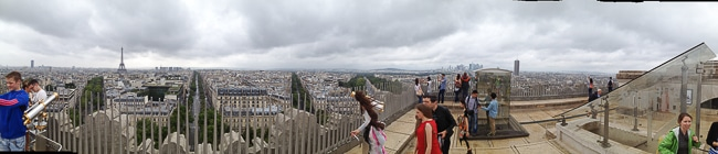 Panorama from top of Arc de Triomphe - BoulderLocavore.com