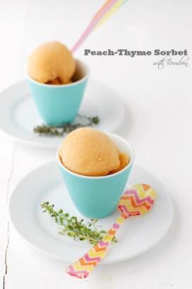 Peach-Thyme Sorbet scoop