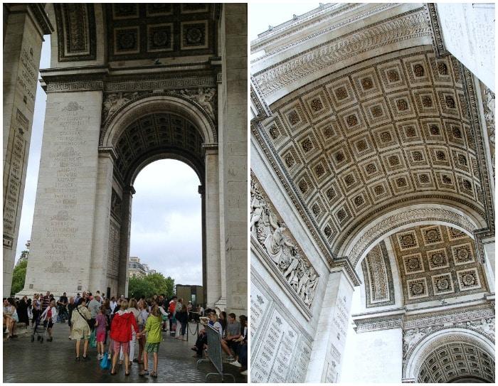 Under the Arc de Triomphe Paris - BoulderLocavore.com