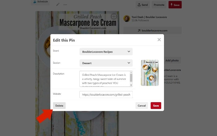 How to Delete a Pinterest Pin image