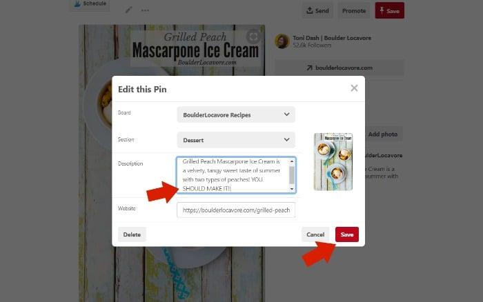 How to Edit a Pinterest Pin screenshot
