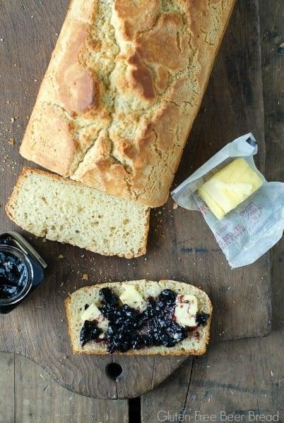 Gluten-Free Beer Bread with jam - BoulderLocavore.com